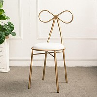 Modern Iron Metal Butterfly Backrest Dressing Chair