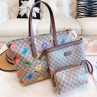 GUCCI New fashion pattern more letter shoulder bag women handbag three piece suit bag