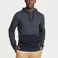 Waffle-Knit Hooded Pullover