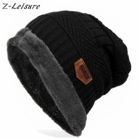 Fashion Caps For Men - Thick Winter Women Beanie - Knitted Hat