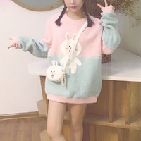 Cute cartoon bunny sweater