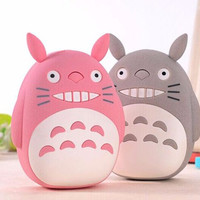 (1pc)hot Portable Cute TOTORO 12000mAh Power Bank 18650 Cartoon Charger USB External Battery Backup For Android IOS iPhone