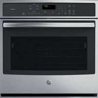 GE PT7050SFSS 30 Inch Single Electric Wall Oven with 5.0 cu. ft. Capacity, True European Convection with Direct Air, Ten-Pass Dual Broil Element, Glass Touch Oven Controls and ADA Compliant: Stainless Steel