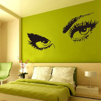 Removable Sexy Beautiful Eyes Wall Mural Decal Vinyl Art Home Decoration DIY