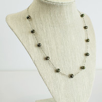 Sterling Dark Pearl Necklace
