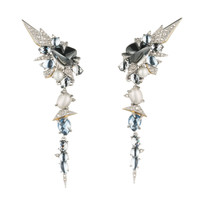 Mosaic Lace Dangling Clip Earrings | Alexis Bittar