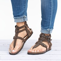 Gladiator Footbed Brown Sandals