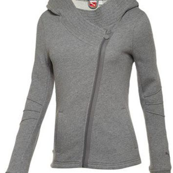 Lifestyle Asymmetrical Zip-Up Hoodie
