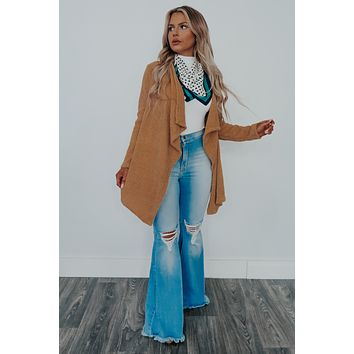 Found You Finally Cardigan: Camel