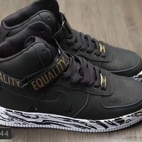 """""""Nike Air Force 1"""" Men Sport Casual Fashion High Help Plate Shoes Sneakers"""