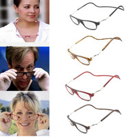 Men Women Magnetic Reading Glasses Hanging Neck Folding Glasses Magnetic Eyeglass Plastic Frames magnet Gafas De Lectura Oculos