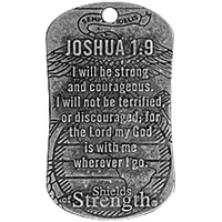 USMC Joshua 1:9 Dog Tag & Chain