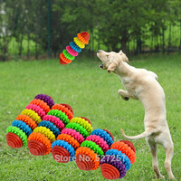 Pet Chew Toy Rubber Dog Puppy Cat Dental Teething Healthy Teeth Gums Durable