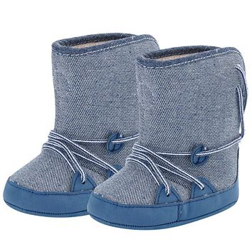 Baby Boy Shoes Warm Snow Boots Lace Up Soft Sole Baby Shoes Children Toddler Kids Footwear