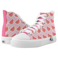 Watercolour Watermelon Shoes Printed Shoes