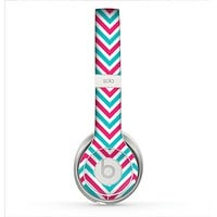 The Blue & Pink Sharp Chevron Pattern Skin for the Beats by Dre Solo 2 Headphones