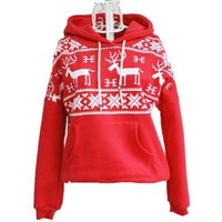Girls Deer Hooded Hedging Tiny Swe...