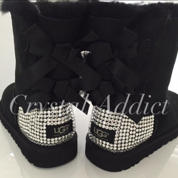 Beautiful Bailey Bow Uggs with Swarovski Crystals for Women Bling Bling