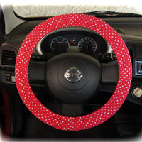 Steering-wheel-cover-for-wheel-car-accessories-Red-Polka-Dot