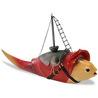 Fish With Mast Fantasy Creature Statue by Hieronymus Bosch 5L