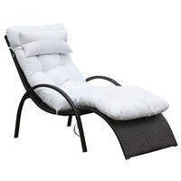 Fine Mod Imports Otello Outdoor Lounge Chair, White
