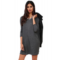 Long Sleeve Loose Pull-over Dress