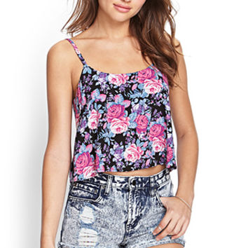 FOREVER 21 Floral Woven Cami