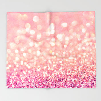 Blush Deeply Throw Blanket by Lisa Argyropoulos | Society6