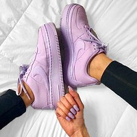 Nike Air Force 1 AF1 Low-Top Joker Flat Sneakers Shoes Full purple