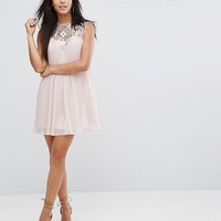 Lipsy Lace Detail Swing Dress at asos.com