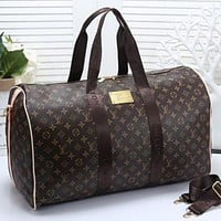 Louis Vuitton LV Women Leather Multicolor Luggage Travel Bags Tote Handbag  Bag