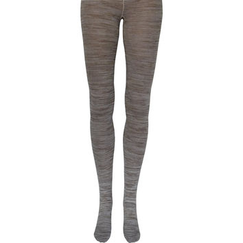Space Dyed Cotton Tights in Oatmeal