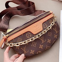 Hipgirls LV New fashion monogram print leather shoulder bag crossbody bag handbag