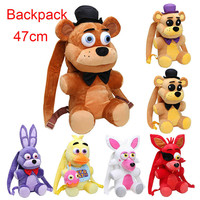 47cm FNAF backpack Five Nights At Freddys plush Backpack Freddy Fazbear Chica Bonnie Mangle foxy backpack plush stuffed kid toy