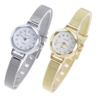 Facets of Time Thin Mesh Band Watch