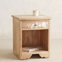 Pearl Inlay Nightstand by Anthropologie Neutral One Size House & Home