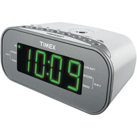 Timex Am And Fm Dual-alarm Clock Radio With Digital Tuning (white)