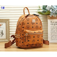 MCM Trending Women Leather Sport Travel Backpack Bookbag College School Bag 1#