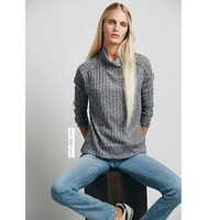 Free People $78 Rested and Ready Mock Neck Hacci