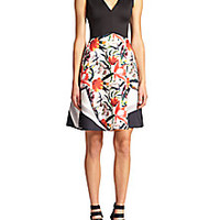 Clover Canyon - Floral Print Fit & Flare Dress - Saks Fifth Avenue Mobile