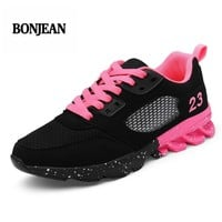Brand Tenis Feminino 2018 Summer Women Tennis Shoes Breathable Sport Shoes Women Stability Sneakers Athletic Shoes Ultra Fitness