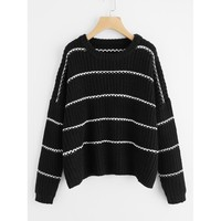 Oversized Stripey Jumper