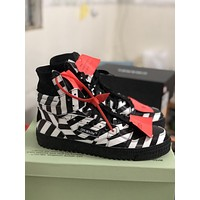 OFF WHITE 18fw SNEAKERS Low 3.0 OW Fashion Women's Casual Running Sport Shoes Sneakers Slipper Sandals High Heels Shoes