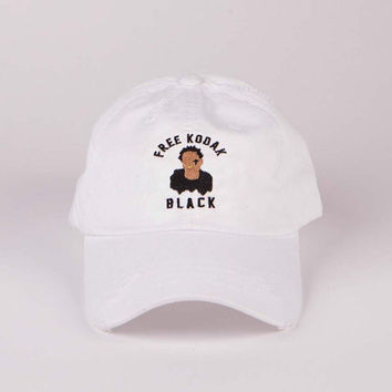 White Free Kodak Black | Vintage Dad Hat