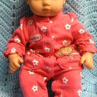 """BITTY BABY GIRL """"Beddie-Bye Monkey"""" (15 inch) doll outfit clothes sleeper and headband"""