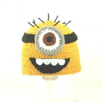 One Eyed Minion Hat / Beanie from Despicable Me, please send size | CutieHats - Accessories on ArtFire
