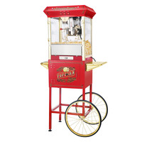 """Red Princeton Antique Popcorn Machine and Cart (Red) (62""""H x 21""""W x 29""""D)"""