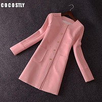 Casaco feminino spring coat casual long suede trench coats blouses trench coat for women female overcoat