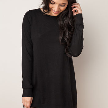 Just About There Black Tunic