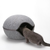 Egg Shape  Cat All Season Bed with Detachable Cushion